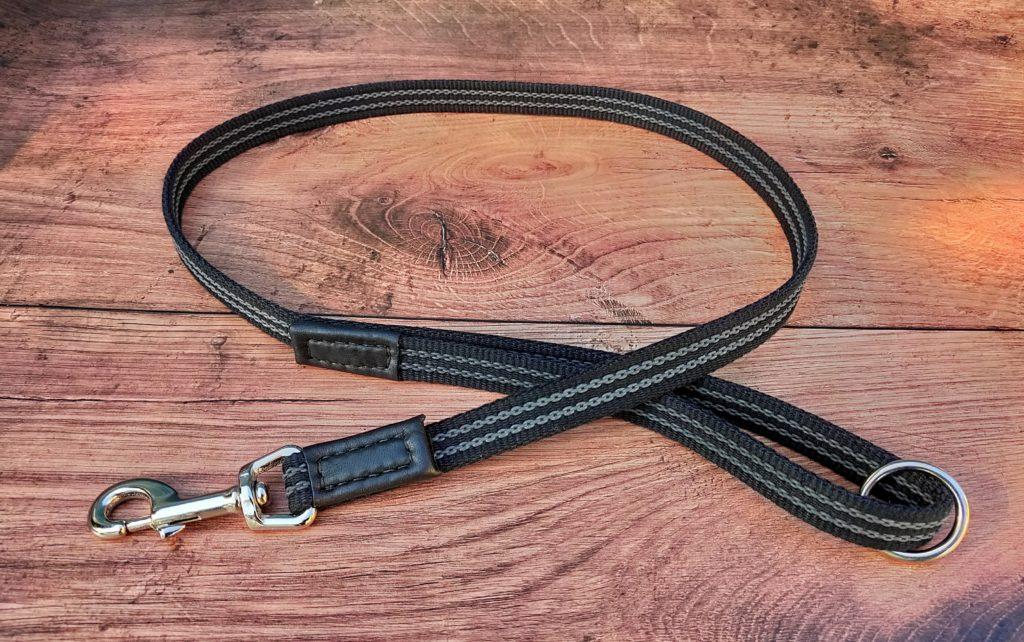 Rubberised webbing dog lead